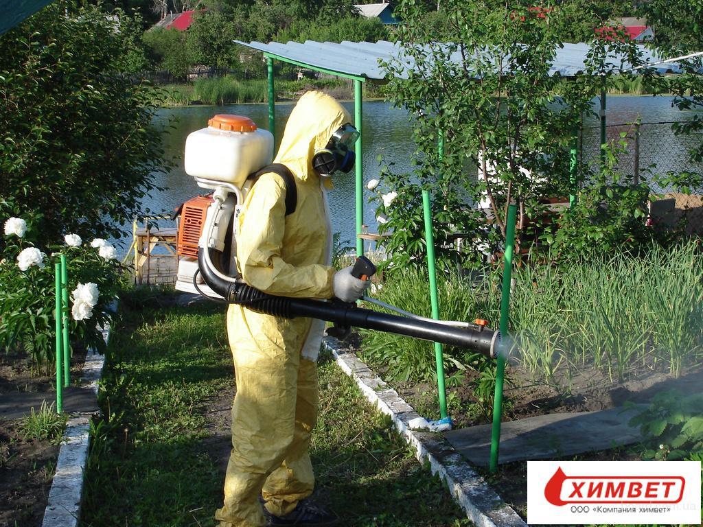 ООО «Химвет» производит обработку садовых и земельных  участков от насекомых, вредителей растений