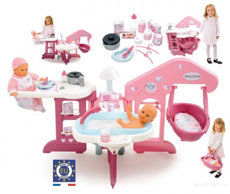"""Smoby 24391 Большой Игровой центр по уходу за куклой Baby Nurse """"Комната"""""""