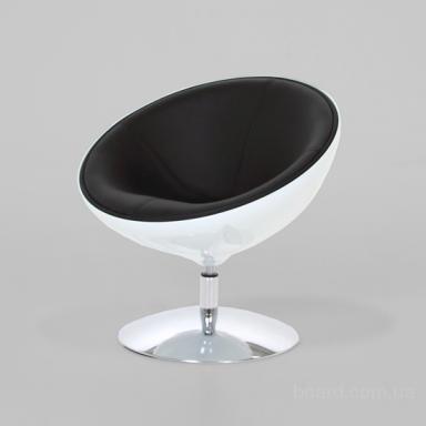 Кресло Лотус бело-черное купить Киеве