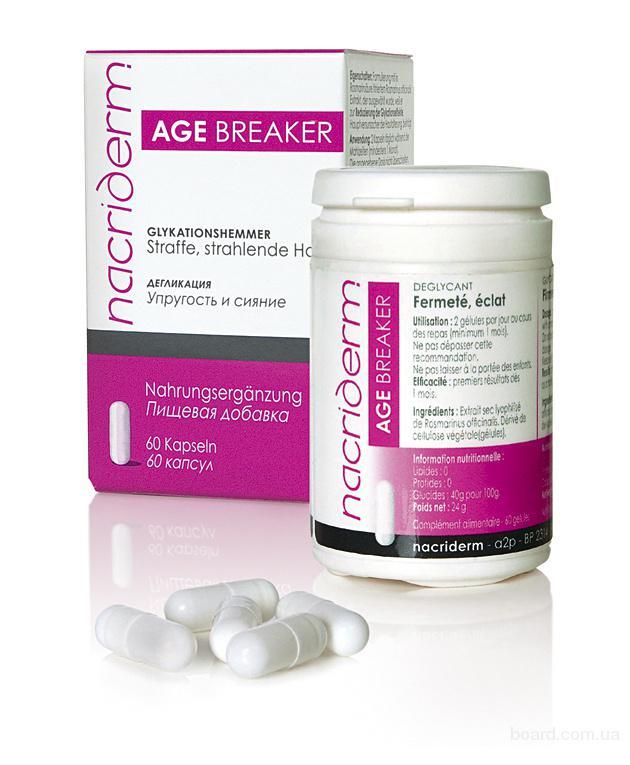 Препарат Nacriderm AGE BREAKER возвращает коже эластичность, упругость и молодость.