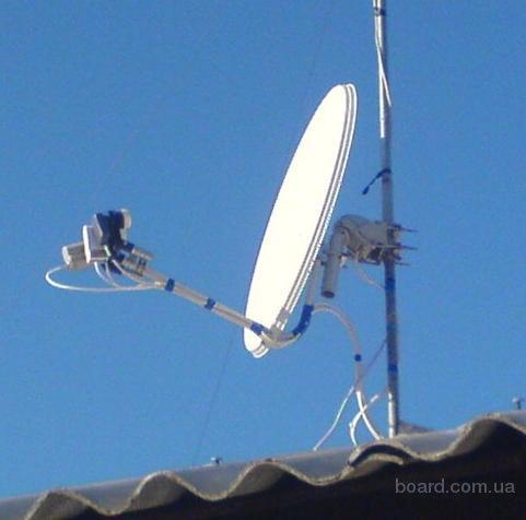 Установка спутниковых антенн (Sirius, Amos, Hotbird)
