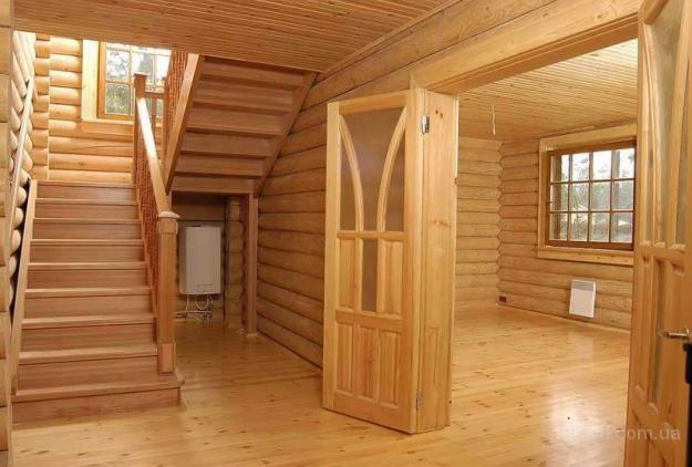 Дальше идёт, например отделка деревянного дома внутри вагонкой, фото в интернете станет прекрасной иллюстрацией...