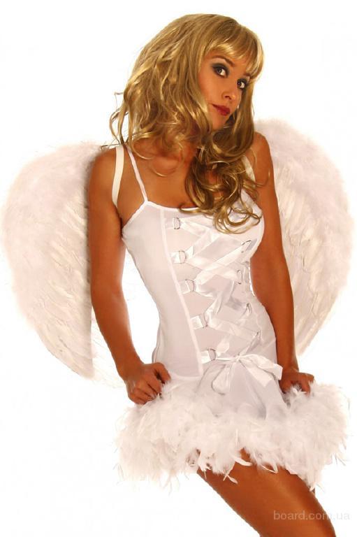 Белоснежный Ангел в гетрах с большими крыльями, карнавальный костюм