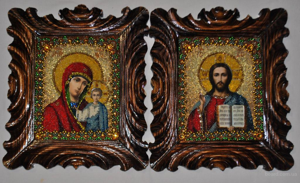 продам). иконы из бисера.