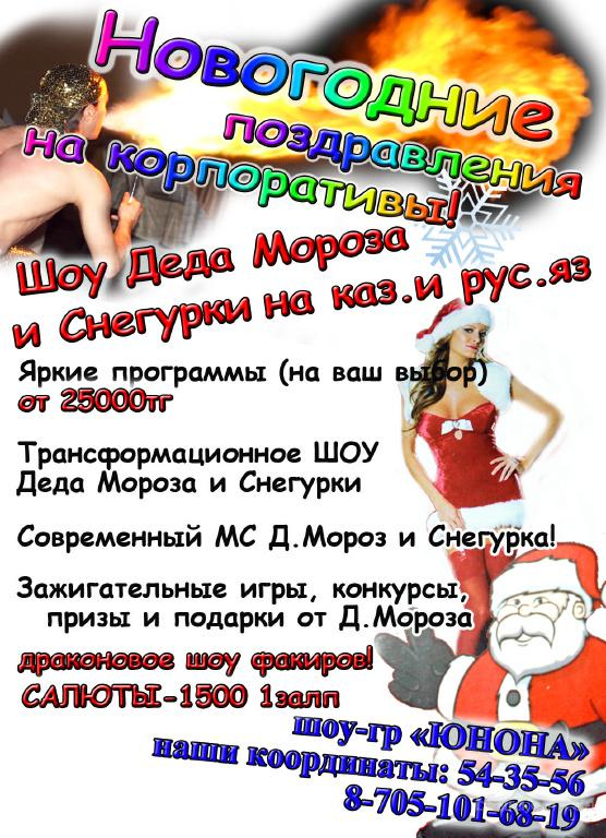 шоу Деда Мороза и Снегурки
