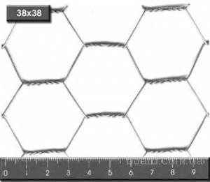 Сетка проволочная крученая  шестиугольная без покрытия (оцинкованная).