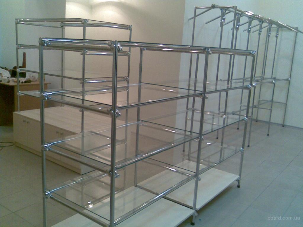 Изготовим торговые стеллажи, прилавки, витрины из ДСП, системы джокер  Оформление магазинов под ключ, комплексное решение: гипсокартон +металлопластик