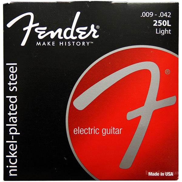 Струны Fender 250L Nickel Plated Steel Light 9-42