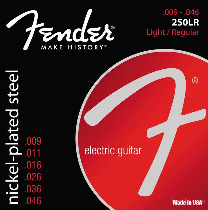 Струны Fender 250LR Nickel-Plated Steel 9-46 Regular