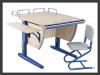 Набор универсальной трансформируемой мебели «ДЭМИ»: стол-парта СУТ.14-02 + стул СУТ.01, цвет клен/синий