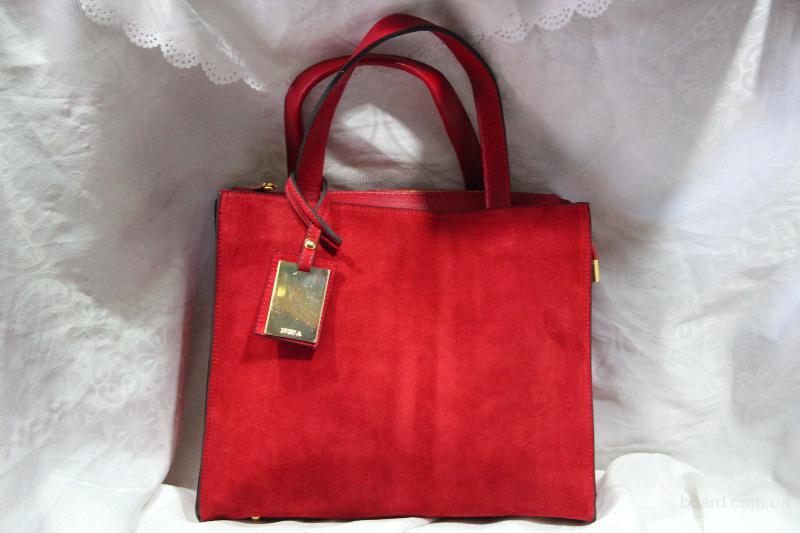 замшевая эксклюзивная женская сумочка-саквояж. продам. грн.  420.