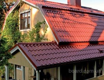Ремонт металлической крыши из черепицы.
