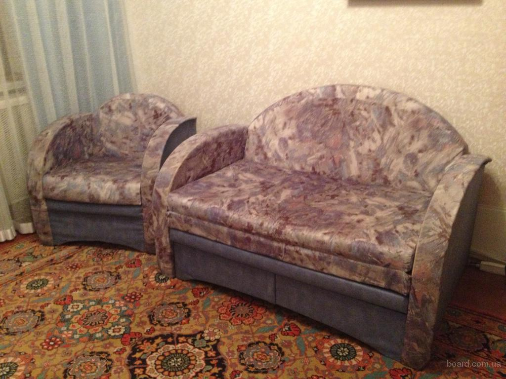 Купить диван и кресло раскладное в комплекте