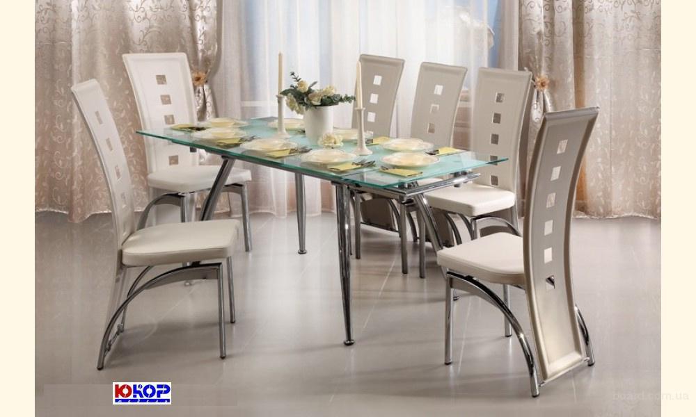 Купить стеклянный кухонный стол TB007 бе
