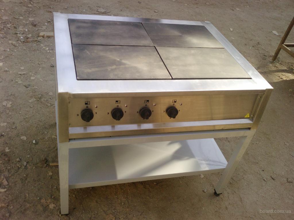 Плита электрическая четырехконфорочная с духовкой.