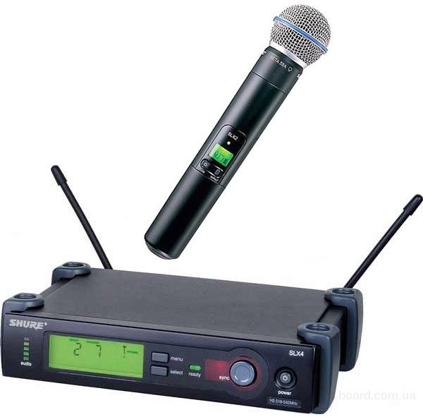 shure радиомикрофон Beta 58A/SLX4, купить микрофон