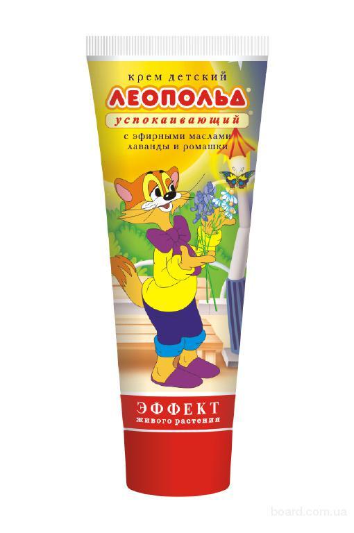 Крем детский Леопольд успокаивающий с эфирными маслами лаванды и ромашки 75 г.