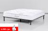 Двуспальная кровать, кожаная кровать, большая кровать, стильная кровать, анатомический матрас.