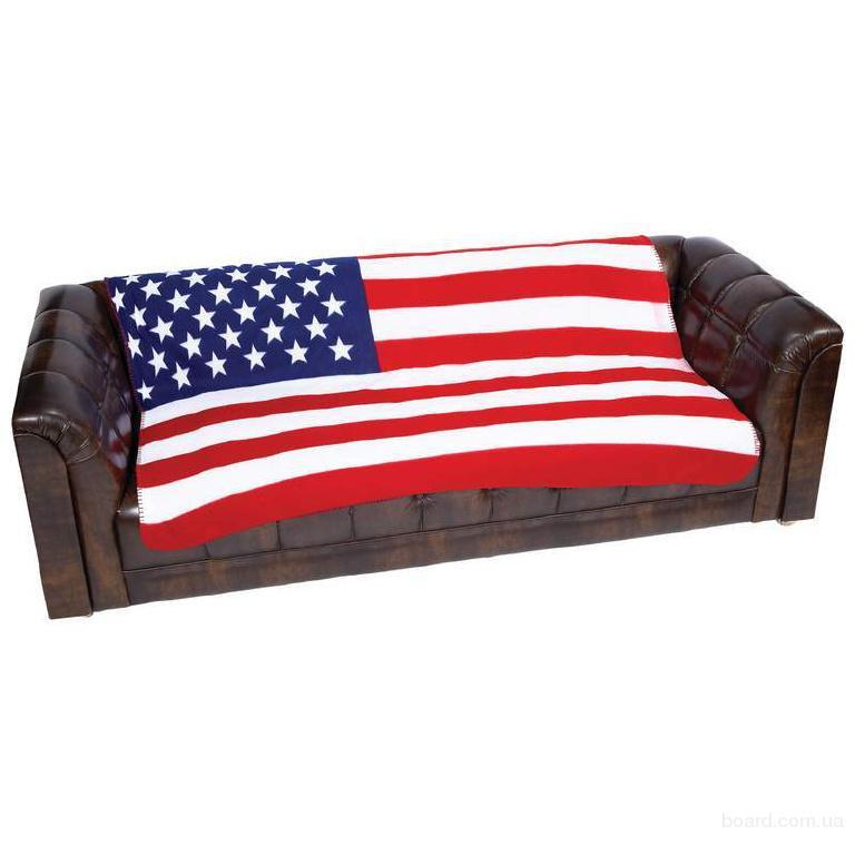 Флисовое покрывало плед Американский флаг
