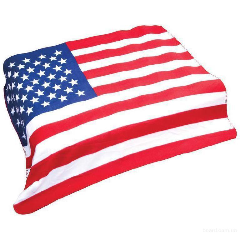 плед Американский флаг.