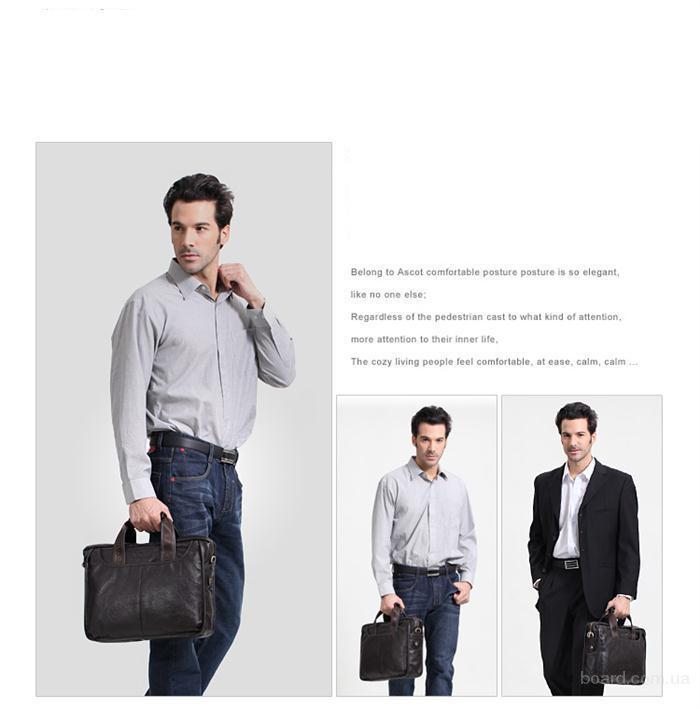 Другие фото Мужские кожаные портфели сумки.