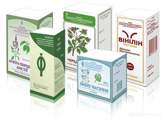Упаковка для лекарственных трав и на чаи