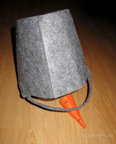 Как сделать ведро для костюма снеговика своими