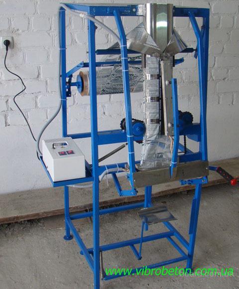 Упаковочный полуавтомат без дозатора для фасовки сыпучих и штучных
