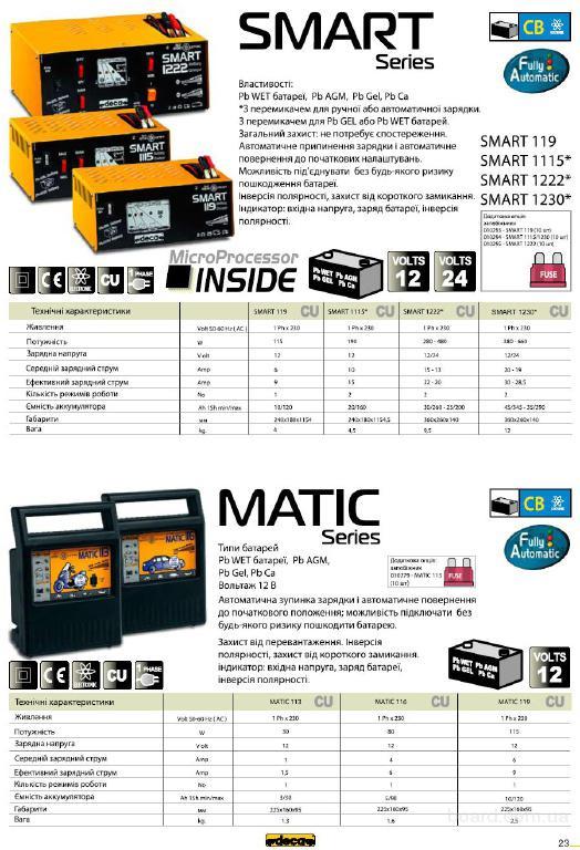 Зарядные и пускозарядные устройства DECA, Booster 12/24В,150..2500А дл в Киеве - изображение 7.
