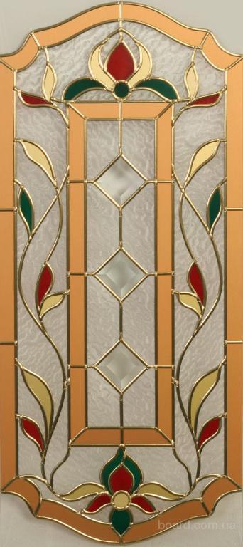 Витраж 01 для межкомнатной двери от студии ВитреАрт