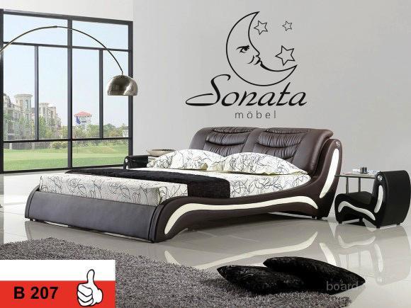 Модные немецкие Кровати. Двуспальные кровати из кожи. кровати в стиле: хай-тек, модерн, минимализм.