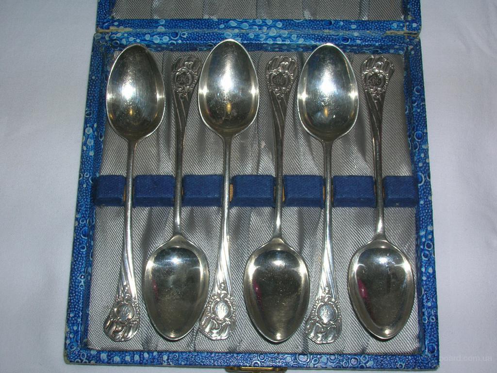 Набор серебряных чайных  ложек 1896 года