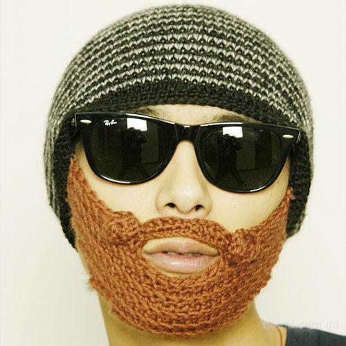 Шапка-балаклава с бородой лыжная маска недорого