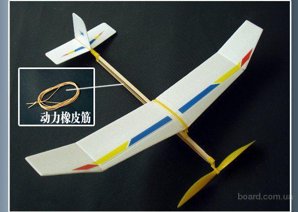 Как сделать самолетик с резиномотором