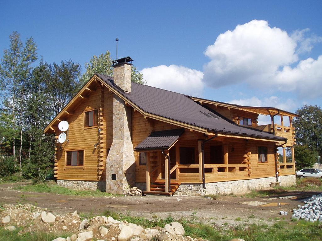 Строительство деревянных домовкоттеджейбаньбеседок из