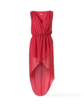 Шифоновое платье спереди короткое