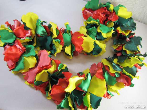 Как сделать гавайские бусы из гофрированной бумаги