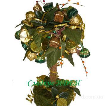 Денежное дерево из конфет своими руками мастер класс 20