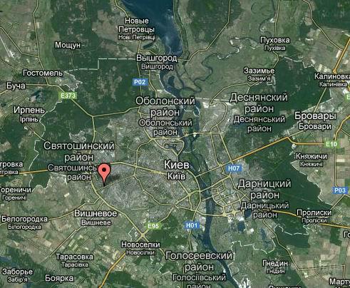 Курбаса ул., Борщаговка, по скоростному