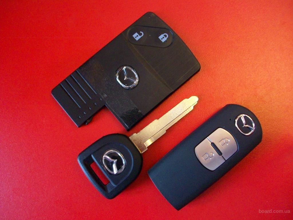 Ключ Mazda оригинал, корпус выкидной. Mazda, Ключ для смарт карты