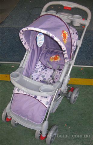 Детская прогулочная коляска Sigma K-719FR с дождевиком и чехлом на ножки