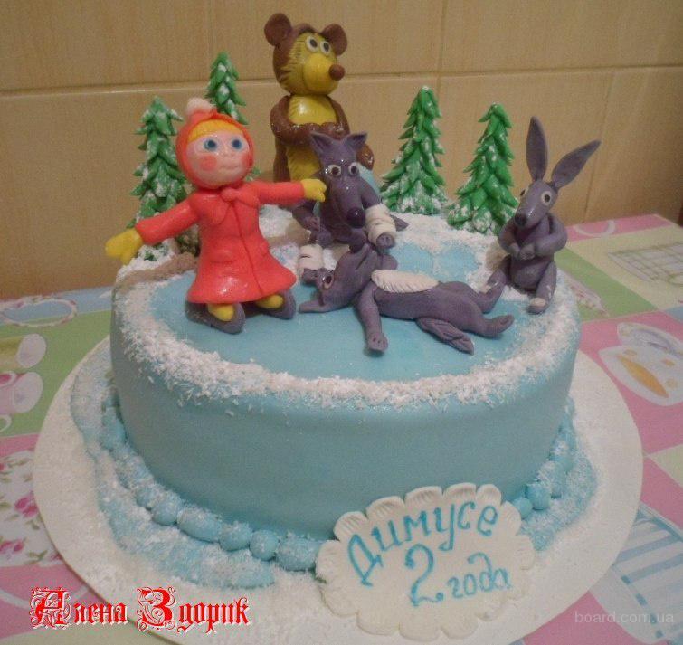 Детский торт маша и медведь праздник