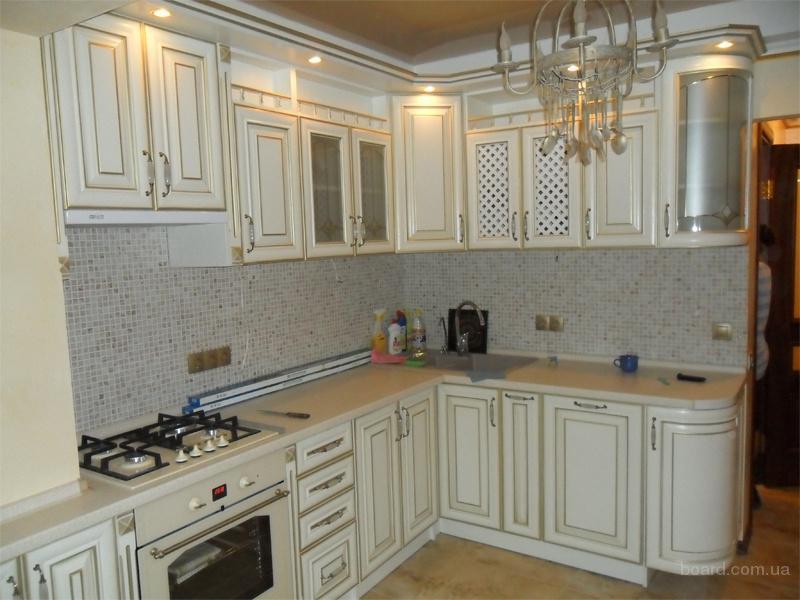 Кухни белые дерево патина