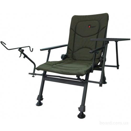 кресло для рыбалки с держателем удочки
