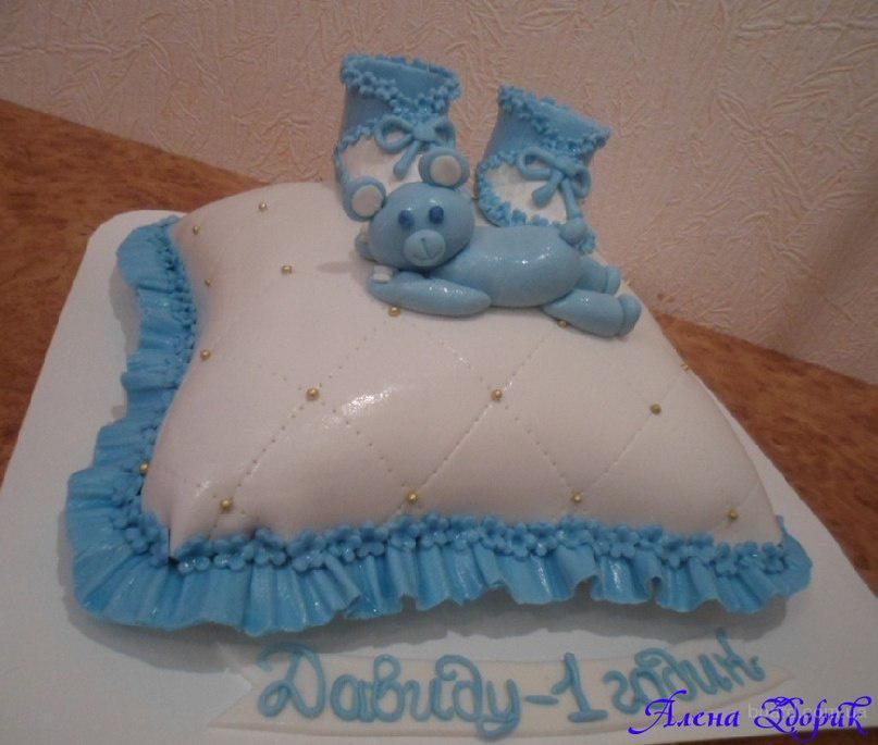 Продам торт подушечка с пинетками и