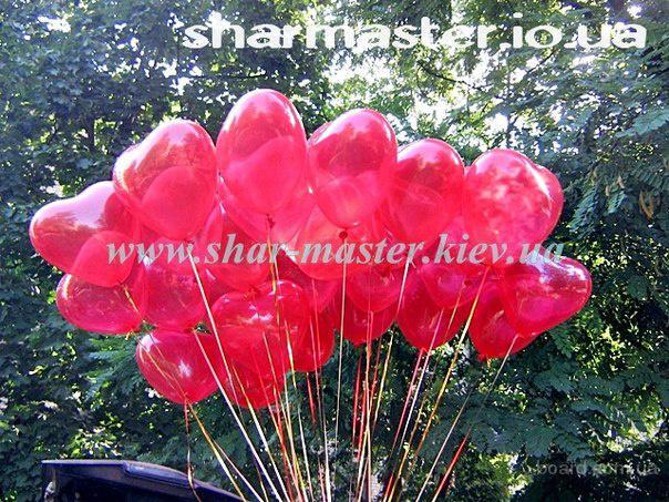 Воздушные шарики на День Валентина в Киеве, подарок на 8-е Марта, вазы и цветы из шариков.