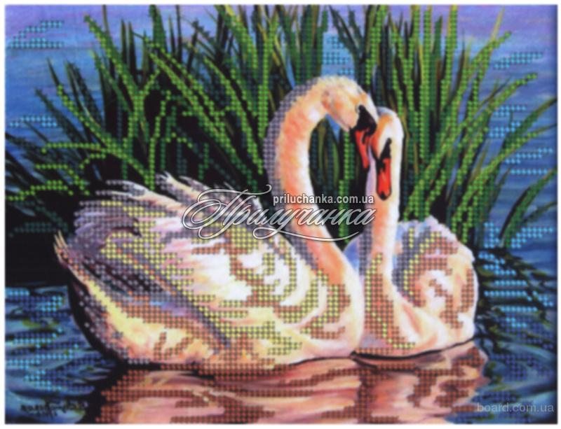 бисером схема лебедей.
