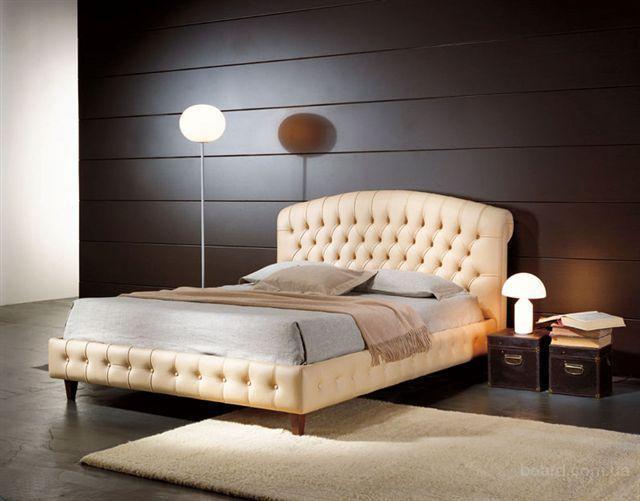 Продам кровать двуспальную Флоренция с отделкой натуральной кожи