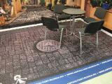 Напольные наклейки на ковролин для выставочных стендов