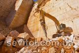 Гидромолот для дробления горных пород, работы в карьерах, демонтажа бетонных конструкций